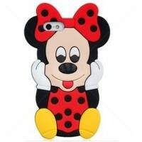 Capa para iPhone 5c Estilo Disney Minnie 3D