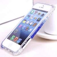 Bumper Luxo Strass Degradê para iPhone 5/5S