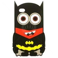 Capa de Silicone Minion Batman 2 3D para iPhone 5/5S