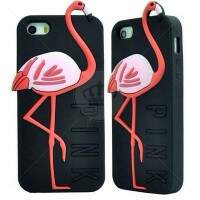 Capa Estilo PINK Victorias Secret Flamingo para iPhone 5/5S