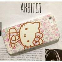 Capa Rígida Hello Kitty Flores para iPhone 5/5S