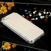Flip Cover Luxo Borda Strass para iPhone 6