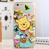 Capa de Silicone Transparente para iPhone 6 Disney World 2