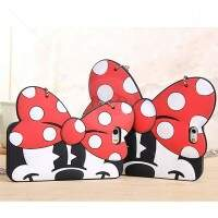 Capa de Silicone Bag para iPhone 6/6 Plus Laço Minnie