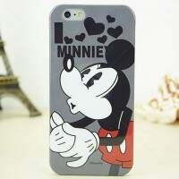 Capa de Silicone Love Minnie para iPhone 4/4S/5/5S/6