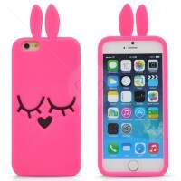 Capa de Silicone Estilo Marc Jacobs Pink para iPhone 6 Plus