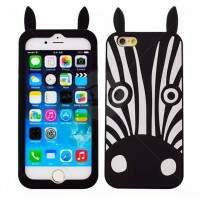 Capa de Silicone Estilo Marc Jacobs Zebra para iPhone 6/6 Plus
