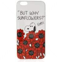 Capa de Silicone Snoopy Flowers para iPhone 6 Plus