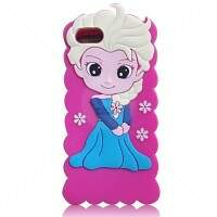 Capa de Silicone Elsa Frozen 3D para iPhone 4/4S/5/5S/6/6 Plus