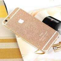 Capa de Silicone Glitter Colorida para iPhone 5/5S/6