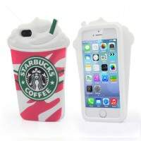Capa de Silicone Starbucks 3D para iPhone 6 Plus