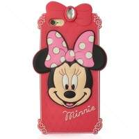 Capa de Silicone para iPhone 6 Retrato Minnie 3D