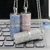 Pen Drive Divertido 4GB Cilindro Strass