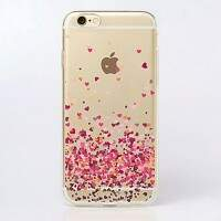 Capa de Silicone Transparente Mini Heart para iPhones/Galaxy