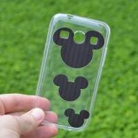 Capa de Silicone Transparente Mini Mickeys para Samsung Galaxy Core Plus