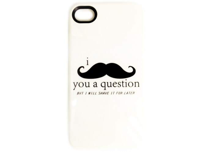 Case Mustache Question para iPhone 4/4S