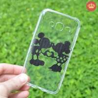 Capa de Silicone Transparente Love You para Samsung Galaxy J5