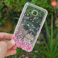 Capinha de Silicone Transparente Mini Heart para Samsung Galaxy On5