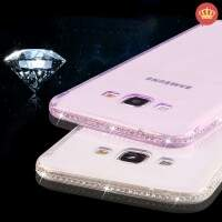 Capinha de Silicone Colorida Borda Strass para Samsung Galaxy On5/On7