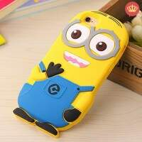 Capinha de Silicone Flexível 3D Minion para iPhone
