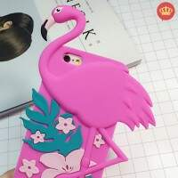 Capinha para iPhone 5/5s/5c/6/6S Silicone Flexível Flamingo Rosa