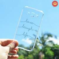 Capinha para Samsung Galaxy J5 Transparente Love Laugh