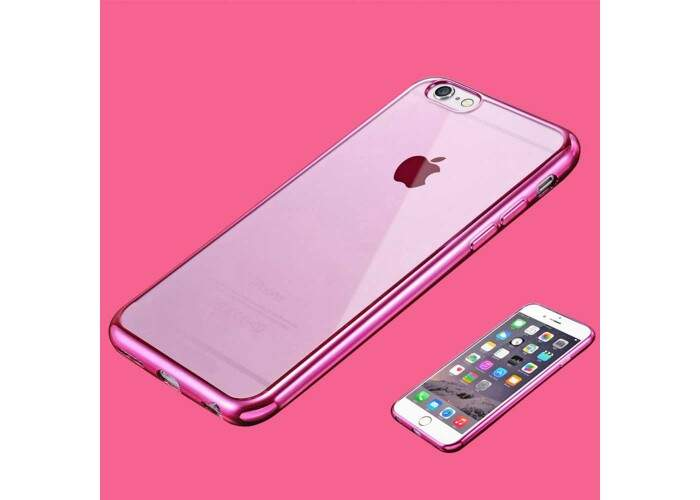 Capa iPhone 7 Silicone Flexível Borda Colorida