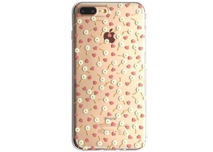 Capa iPhone 7/7 Plus Transparente Flowers and Love
