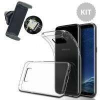 Kit Capa Transparente Galaxy S8 + Suporte Automotivo Celular