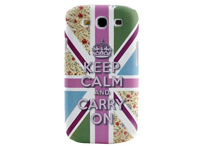 Capa para Samsung Galaxy S3 Keep Calm Flores
