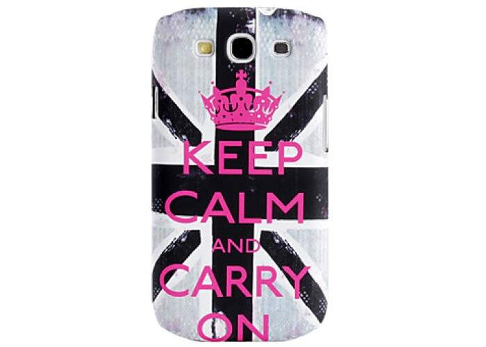 Capa para Samsung Galaxy S3 Keep Calm Rosa
