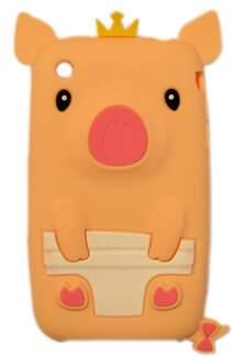 Capa para iPhone 3G Porquinho Rei