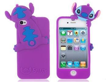 Capa Stitch Lateral Silicone - Capinha para iPhone 4 e 4S