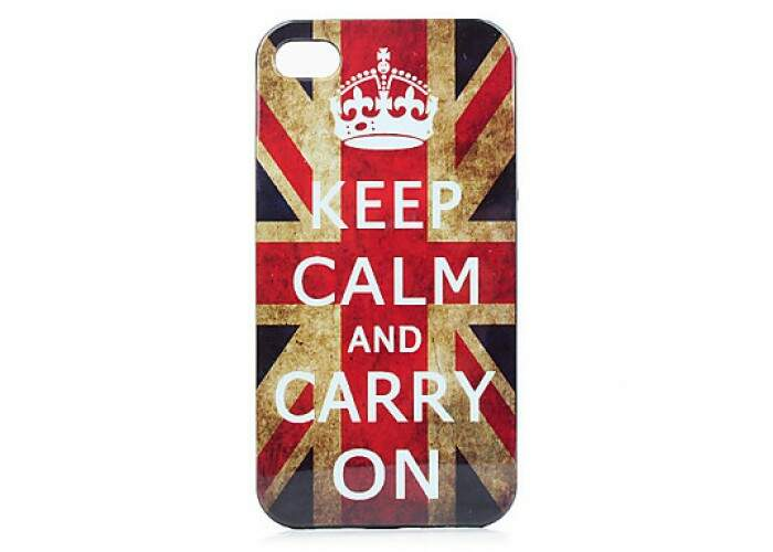 Capa Keep Calm Inglaterra para iPhone 4/4S