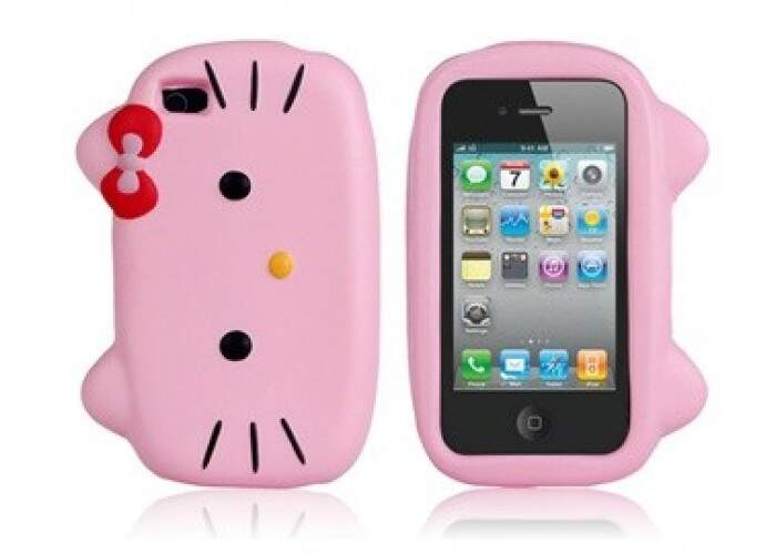 Capa Hello Kitty Silicone Rosa - Capinha para iPhone 4 e 4S