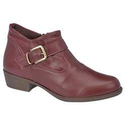Ankle Boot Montaria Solado TR Borracha 3cm - Cereja