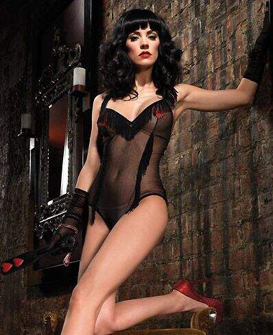 Mesh Teddy With Shimmy Fringe Trim And Glitter