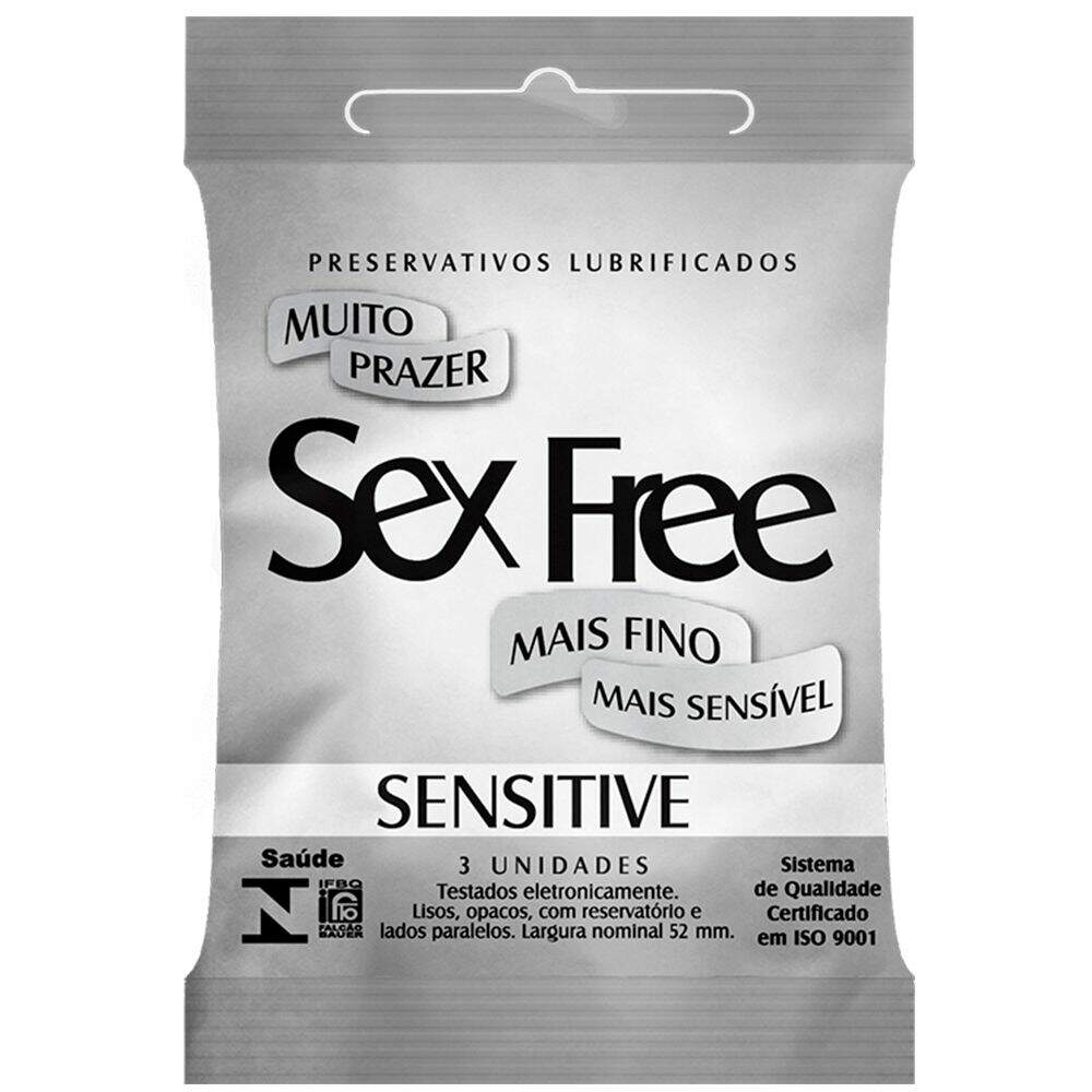 PRESERVATIVO SENSITIVE - SEX FREE