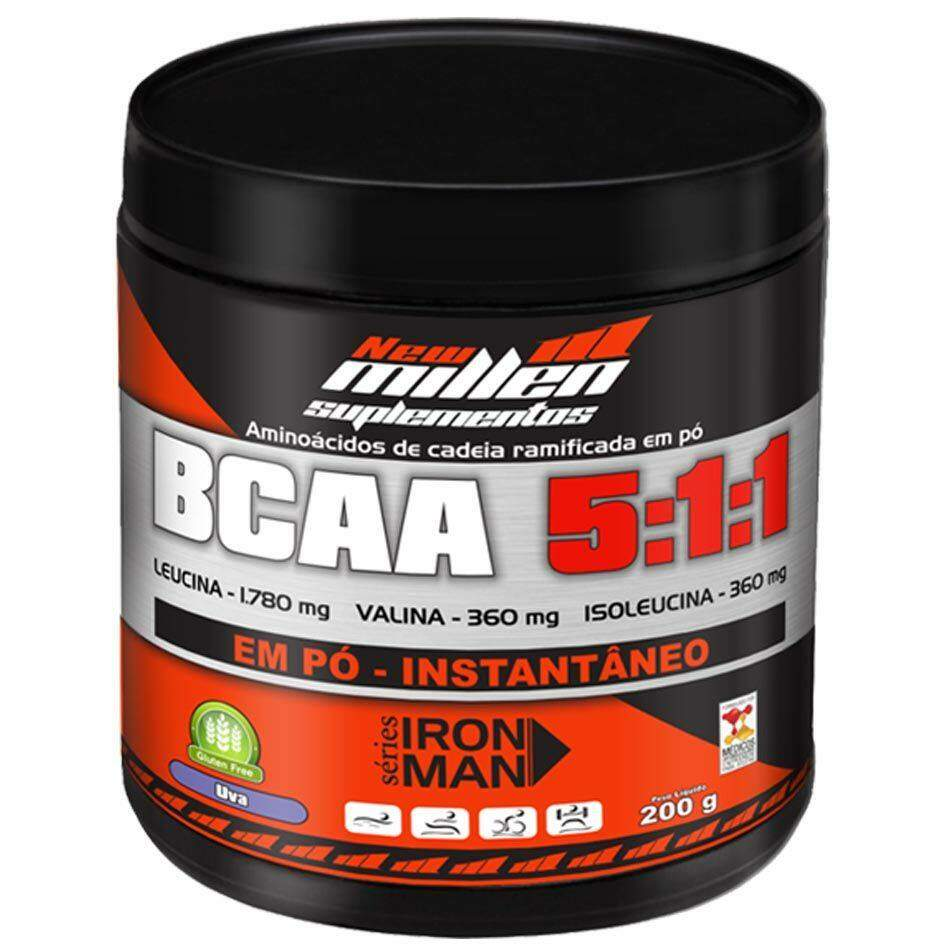 BCAA Powder (PÓ) 5:1:1  - 200g - New Millen