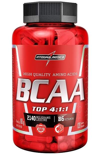 BCAA Top 4:1:1 - 120 caps - Integral Médica