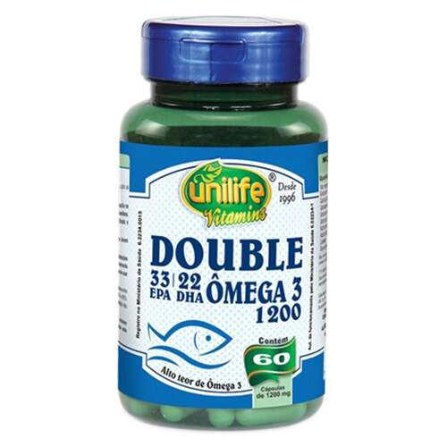 Ômega 3 Double - 1200mg - 60 caps - Unilife