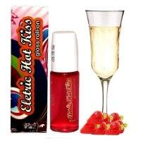 GLOSS ELETRIC HOT KISS MORANGO COM CHAMPAGNE ROLL-ON