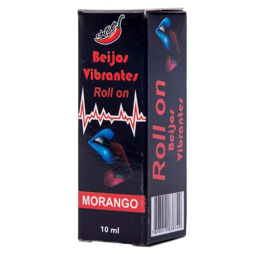 GEL DO BEIJO VIBRANTE EM ROLLON 10ML CHILLIES - MORANGO