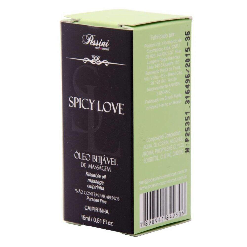 Spicy Love Gel Comestivel Pessini 15 Ml - CAIPIRINHA