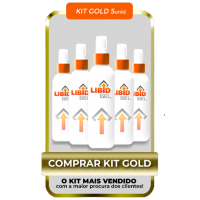 KIT GOLD 5 UNIDADES - LIBID GEL 100% ORIGINAL KID BENGALA