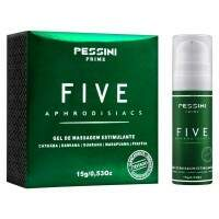 GEL PARA MASSAGEM ESTIMULANTE FIVE APHRODISIACS 15G PESSINI