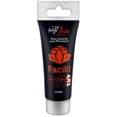 GEL PARA SEXO ANAL FACILIT BLACKOUT 4X1 BISNAGA 15ML