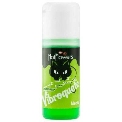 KIT 10 UNID. GEL VIBRANTE VIBROQUETE MENTA 12ML HOT FLOWERS