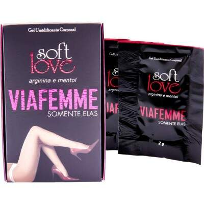 KIT 5 UNID. EXCITANTE FEMININO VIA FEMME 6G SOFT LOVE