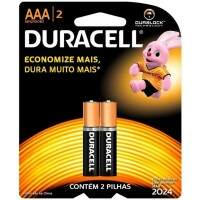 PILHA AAA PALITO COMUM COM 2 UNID. DURACELL